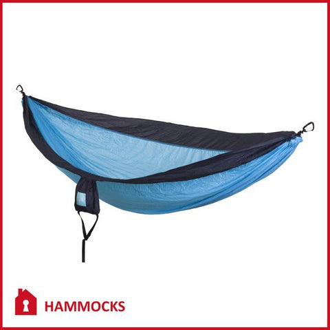 Double Camping Hammock Blue/Charcoal