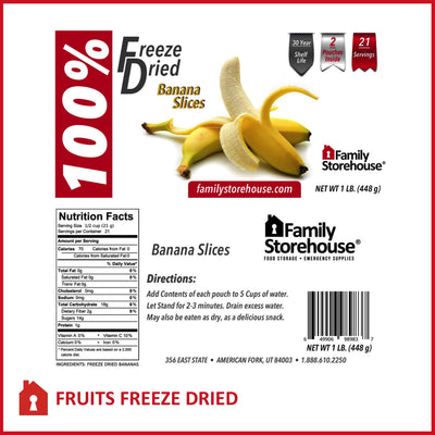 Freeze Dried Bananas FSH LABELS