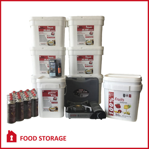 6 Month Food Storage Bundle