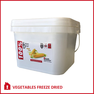 Freeze Dried Corn Food Storage