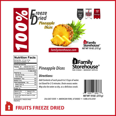 Freeze Dried Pineapple FSH Labels