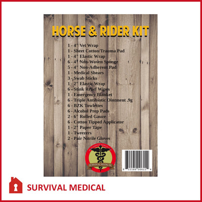Horse & Rider Kit Survival Medical Pouch