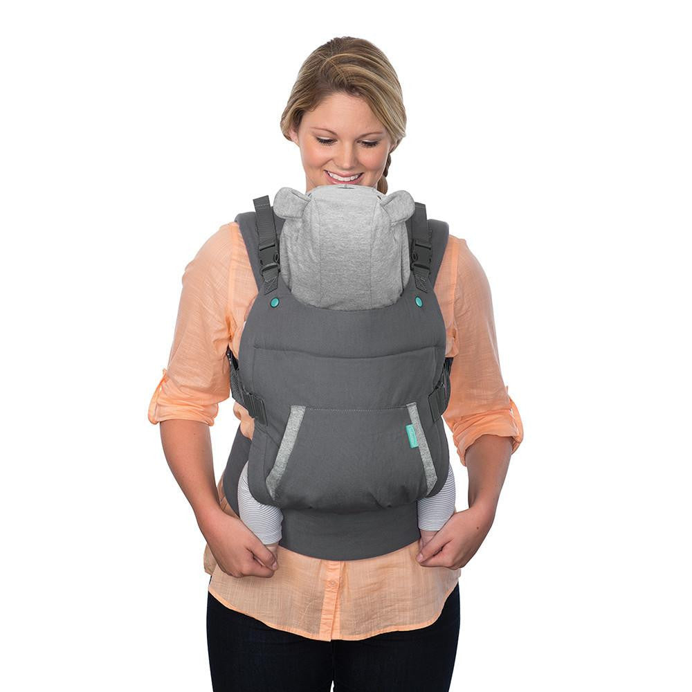 Fox Face-In Front Carry /& Back Carry with Removable Character Canopy Hood Infantino Cuddle Up Ergonomic Carrier