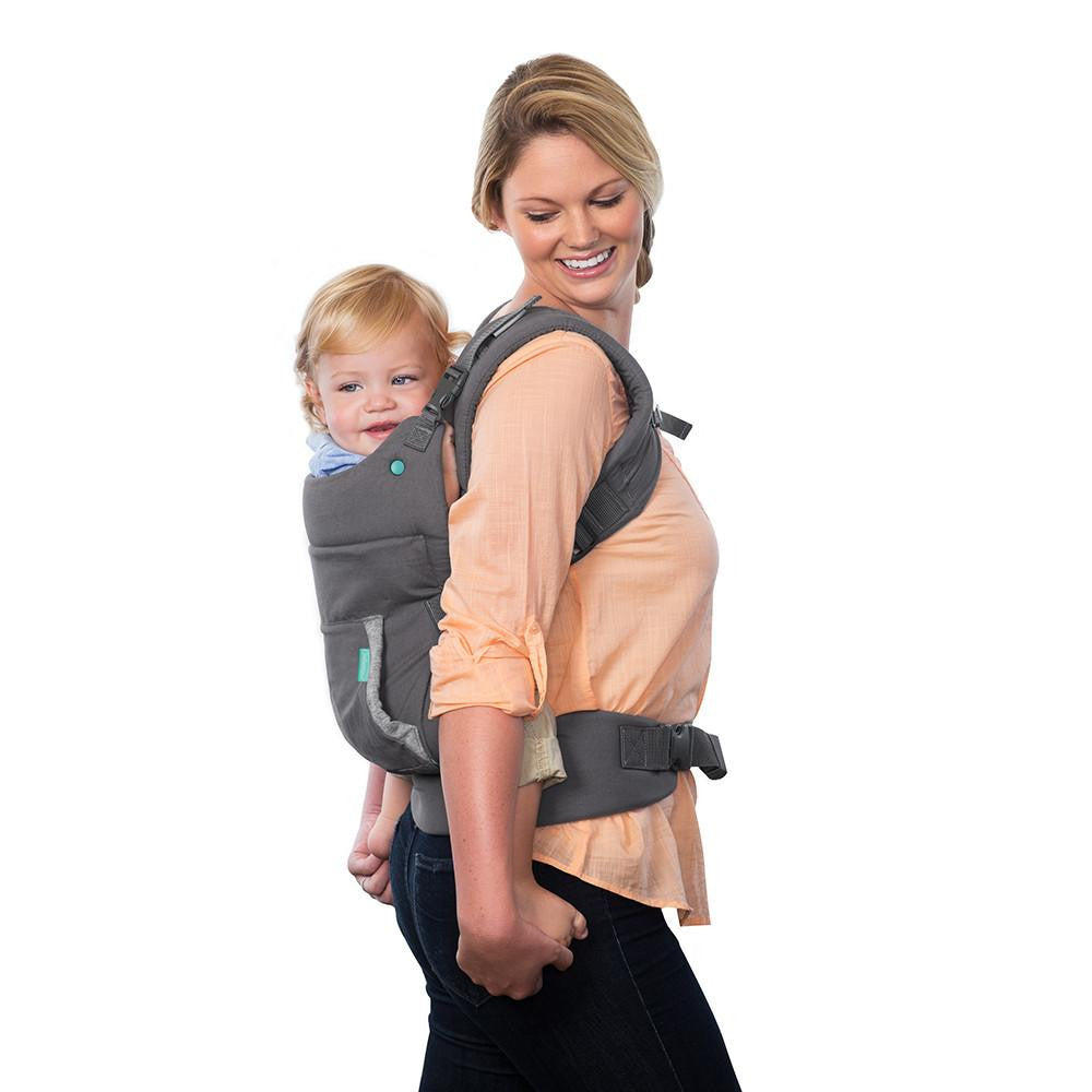 Infantino Cuddle Up Ergonomic Hoodie Carrier Grey