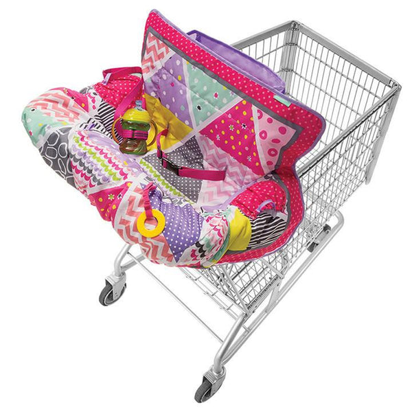 Compact Shopping Cart Cover Pink Girl Infantino