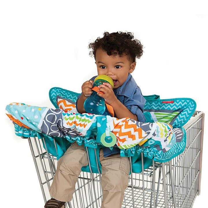Compact Shopping Cart Cover Aqua Infantino