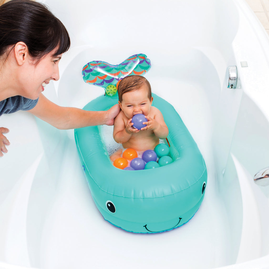 Whale Bubble Bath Inflatable Bath Tub™ Teal – Infantino