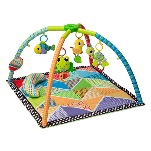 Pond Pals Twist Amp Fold Activity Gym Amp Play Mat Infantino