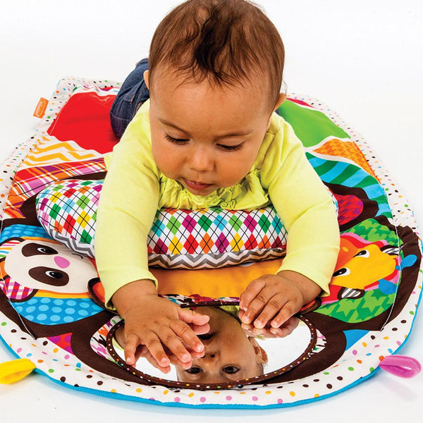 Peek Amp Play Tummy Time Activity Mat Infantino
