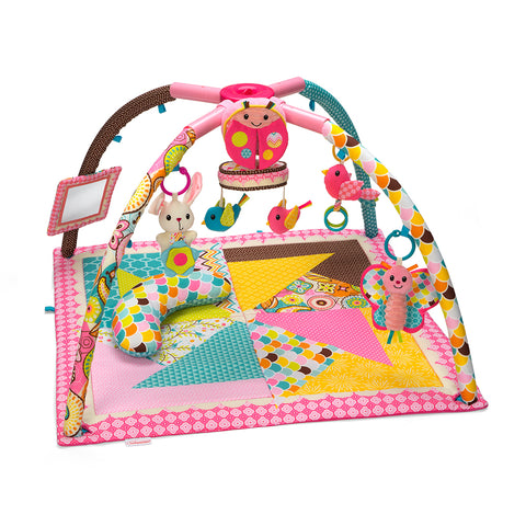 Deluxe Twist & Fold Activity Gym & Play Mat™ Pink