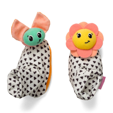 Foot Rattles™ - Flower & Rainbow Bug