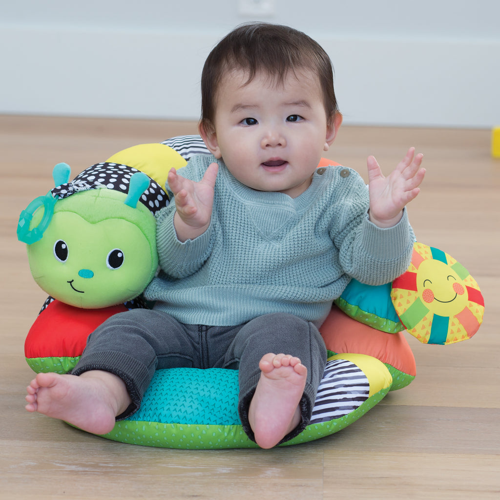 Prop A Pillar Tummy Time Amp Seated Support Green Infantino