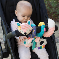 Spiral Car Seat Activity Toy™ Pink Fox