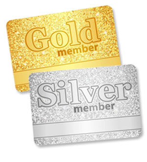 Gold & Silver Membership cards