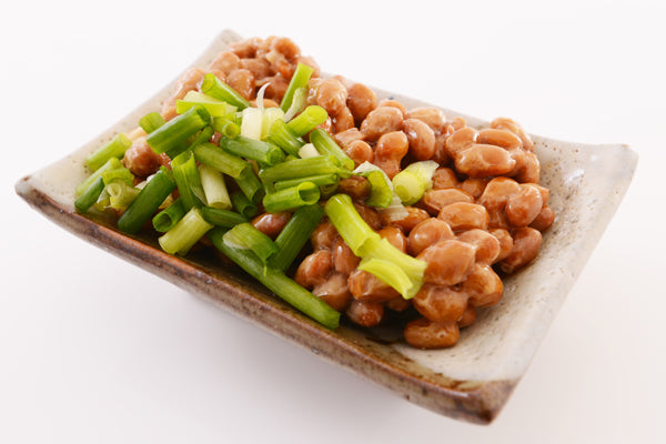 Natto with spring onion topping