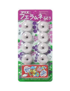WHISTLE SHAPED SODA CANDY(GRAPE)  フエラムネ ぶどう  8pcs 30.5g
