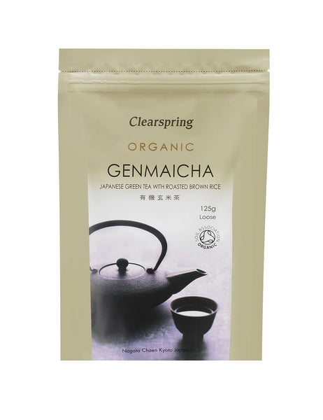 ORGANIC GENMAICHA(GREEN TEA WITH ROASTED RICE) - LOOSE  有機玄米茶 リーフ  125g
