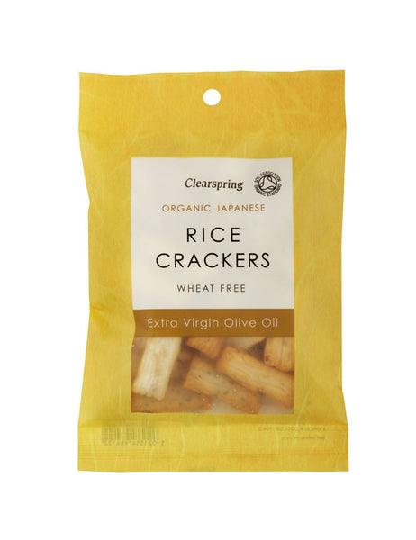 ORGANIC RICE CRACKERS - OLIVE OIL AND SALT  有機せんべい オリーブ・ソルト  50g