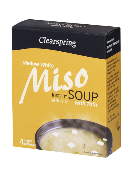 INSTANT MISO SOUP - MELLOW WHITE WITH TOFU  白みそ汁(豆腐入り)  4pcs 40g