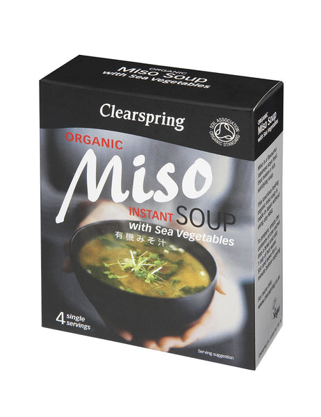 ORGANIC INSTANT MISO SOUP WITH SEA VEGETABLE  有機みそ汁(わかめ入り)  4pcs 40g