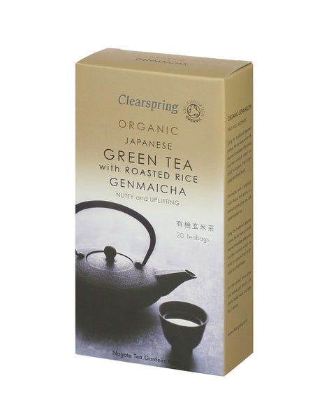 ORGANIC GENMAICHA (GREEN TEA WITH ROASTED RICE) - TEA BAGS  有機玄米茶 ティーバッグ  20bags 40g
