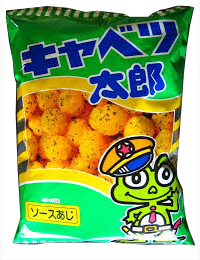 CABBAGE TARO SAUCE FLAVOURED CORN PUFF SNACKS  キャベツ太郎  90g