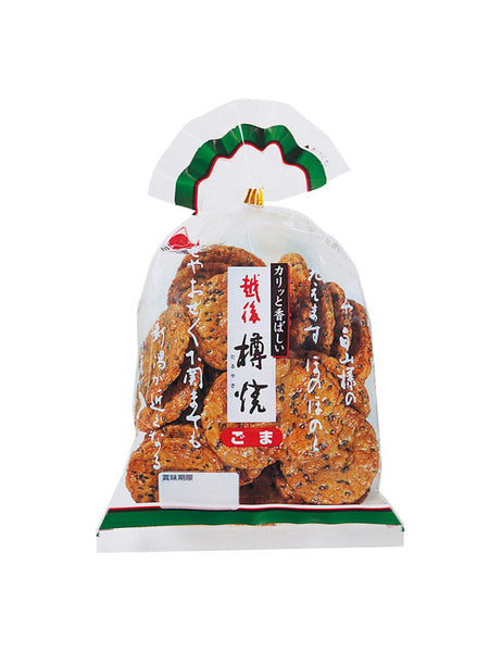 ECHIGO RICE CRACKER SESAME  越後 樽焼 ごま味  111g