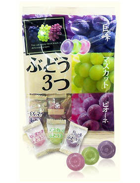 ASSORTED GRAPE CANDY  ぶどう 3つ  120g
