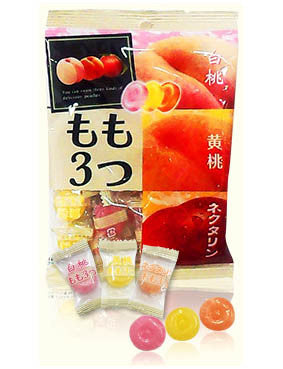 ASSORTED PEACH CANDY  もも 3つ  120g