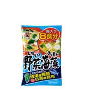 SHINSHU ICHI MISO BIG MISO SOUP VEGETABLE SEAWEED  神州一味噌 得入りみそ汁 野菜海藻  8pcs 150g