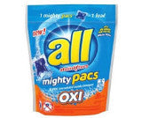 All Stainlifters Mighty Pacs with Oxi Clean Laundry Detergent
