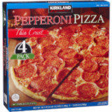 Kirkland Signature Thin Crust Pepperoni Pizza