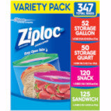 Ziploc Variety Pack Gallon, Quart, Sandwich, Snack