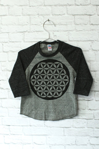 Flower Of Life | Tri-Blend Baseball Raglan T-Shirt | Baby, Toddler, Youth