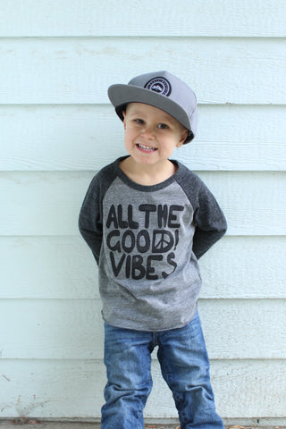 All The Good Vibes | Tri-Blend Baseball T-Shirt | Baby, Toddler, Youth - Beautiful Melody Designs  - 1