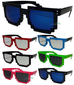 Mens Womans Pixelated Wayfarer Sunglasses In Various Colours UV400 -  - Sunglasses - Raintopia - 1