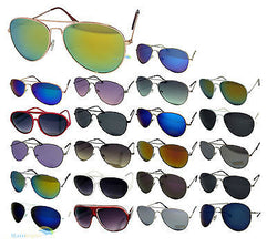 Mens Ladies Aviator Sunglasses 100% UV400 80's Retro Geek Various Colours -  - Sunglasses - Raintopia - 1