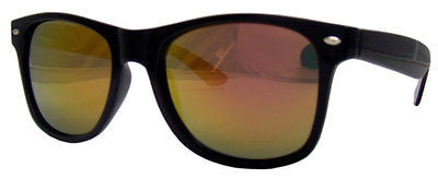 Black Frame Wayfarer Sunglasses Orange Spectrum Mirror Lens Pipel UV400 NWT -  - Sunglasses - Raintopia