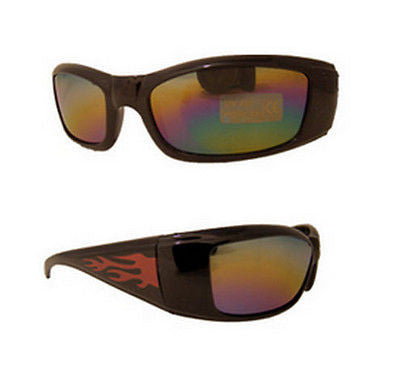 Kids Childs Flamed Sporty Sunglasses Spectrum Mirrored Lens Dark Tint -  - Sunglasses - Raintopia
