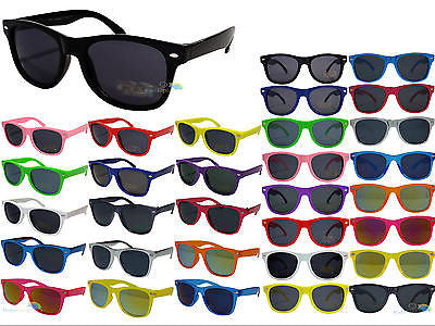 Childs Kids Colour Wayfarer Sunglasses With Dark Tint Lens UV400 Various Colours -  - Sunglasses - Raintopia - 1