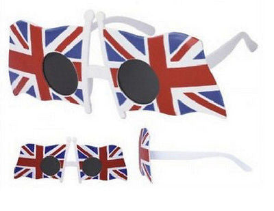 Union Jack Party Sunglasses Flag Design Circle Lens UV400 -  - Sunglasses - Raintopia