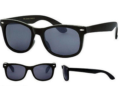 Black Frame Wayfarer Sunglasses Dark Lens with Pouch UV400 Unisex -  - Sunglasses - Raintopia