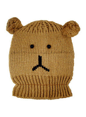 Knitted Toffee Bear Animal Beanie Hats One Size - - Hats - Raintopia 79b427b155e6