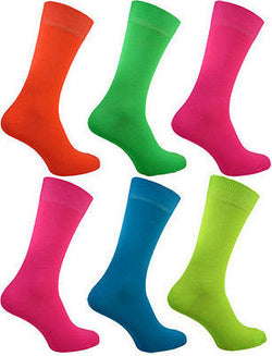 Men's  Teddy Boy Neon Socks Size 6-11 Variety of Colours Quality -  - Socks - Raintopia - 1