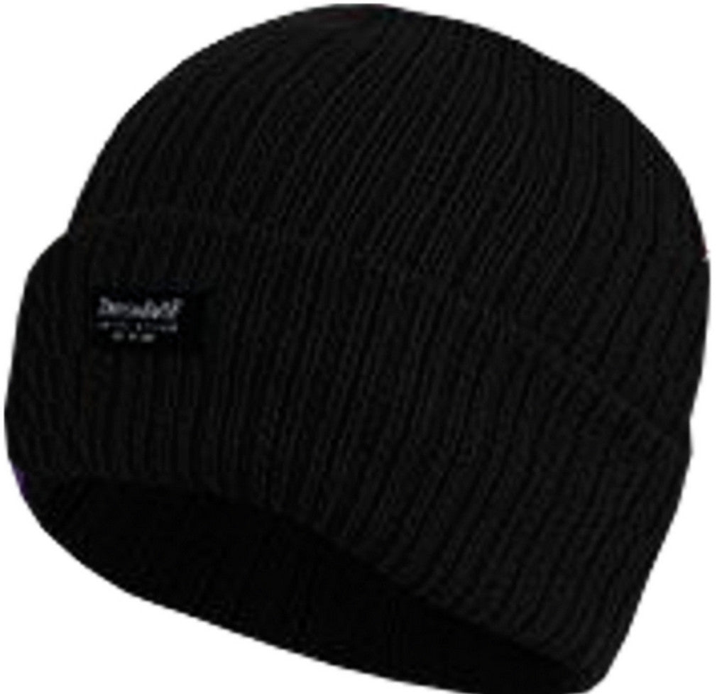 Ladies Knitted Beanie Hats 3M Thinsulate Insulation Chunky 100% Acrylic - Black - Hats - Raintopia - 2