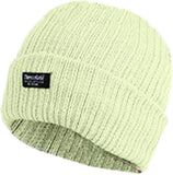 Ladies Knitted Beanie Hats 3M Thinsulate Insulation Chunky 100% Acrylic - Cream - Hats - Raintopia - 3