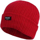 Ladies Knitted Beanie Hats 3M Thinsulate Insulation Chunky 100% Acrylic - Red - Hats - Raintopia - 7