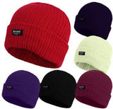 Ladies Knitted Beanie Hats 3M Thinsulate Insulation Chunky 100% Acrylic -  - Hats - Raintopia - 1