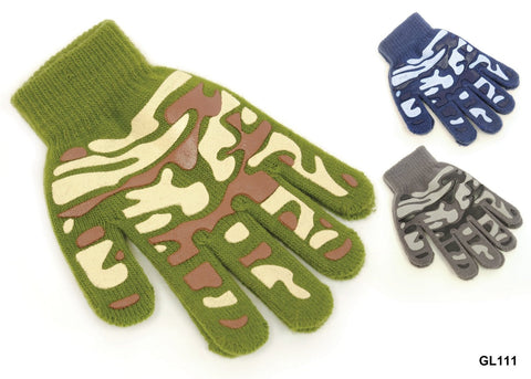 Kids Magic Gripper Gloves Camouflage Design 3 Colours Acrylic -  - Gloves & Mittens - Raintopia - 1