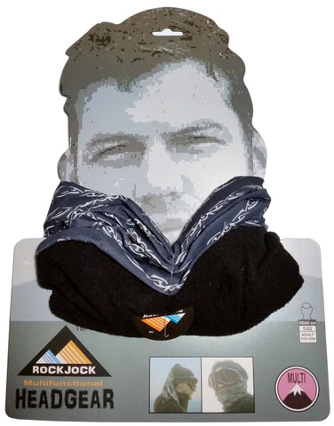 Men's Black Barbed Wire Design Multifunctional Snood Hat Scarf -  - Scarves & Shawls - Raintopia - 1